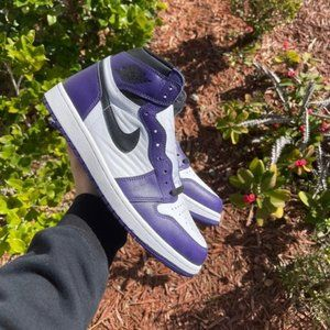 "Nike women's spoAir Jordan 1 High ""Court purple"""